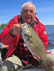 HUGE Trophy Smallmouth Bass by Bill Fishing at Fireside Lodge Canada